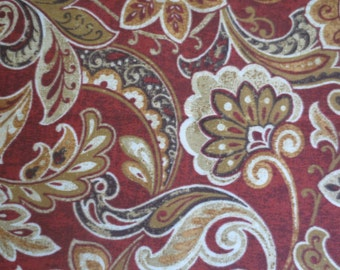 OUTDOOR Pillow Cover Cranberry Red and Gold