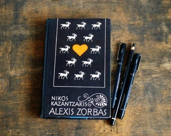 """Recycled Book Journal Tartuensis Classic """"Zorbas"""", Upcycled Diary"""