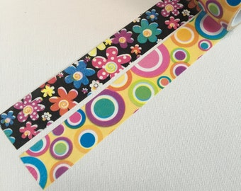 1 Roll of  Washi Tape (Pick 1)- Pop Flowers or Pop Dots
