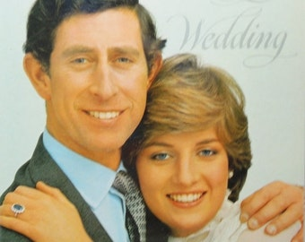 On Sale Price Prince Charles and Princess Diana. Invitation to a Royal Wedding. Hardcover Book. Circa 1980's. The Queen of Hearts. British M