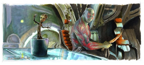 Guardians - Drax and Groot Poster Print