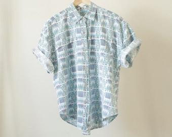 SOUTHWEST 90s psychedelic SURF slouchy oversize wild shirt