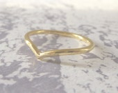 18ct Gold Wedding Ring - Holly Wishbone - 1.5mm - Slim Wishbone Ring - 18ct Yellow Gold
