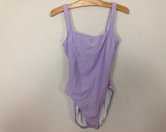 light purple one piece swim suit size L