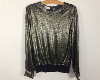 shiny gold top size 12
