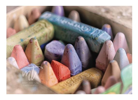 Children's Room, Nursery, Playrooom Wall Art, Crayons, Colorful Close Up Fine Art Photo