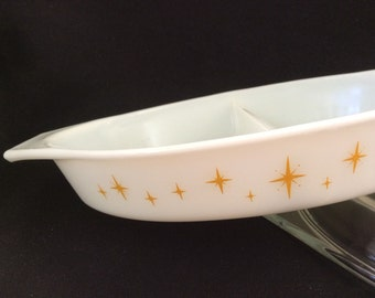 Pyrex Divided Casserole - Constellation 1959