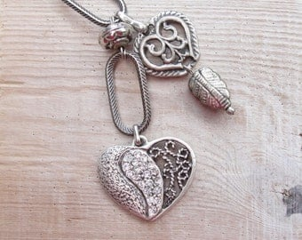 Heart to Heart Keyring / Bag Adornment Love Valentine's