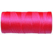 Crochet Thread, Nylon Cord Neon Pink (not waxed), Macrame Crochet Cord - 16 yards/15 meters