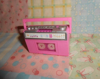 Barbie Doll Accessories Music Cassette Tape Player Wind Up Toy