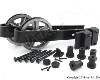 Barn Door Hardware Sliding Kit Spoked Wheel Complete - Superior Quality!