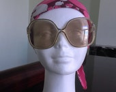 French  1960s-70s Original Vintage Oversized Sunglasses - Very Good Condition - Boho Chic!