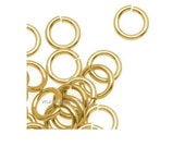 100   jump rings 6mm  gold plated round open wholesale findings supplies craft  mdla100