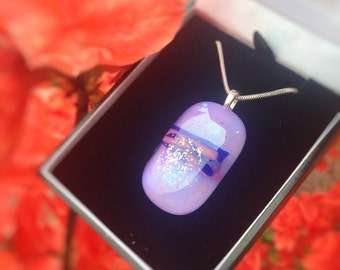 Pastel shade Dichroic fused glass Pendant