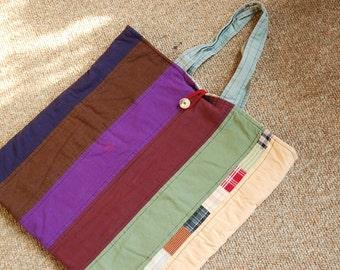 Big Striped Book Bag.