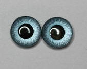 Hand painted eye chips for Blythe by mariuka - blue