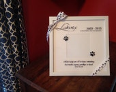 Personalized pet dog memorial photo frame - in memory of, paw prints on our hearts