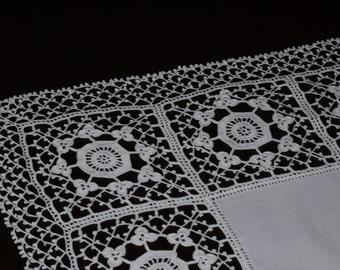 Traditional Cretan Handmade Τablecloth- 3 pieces set
