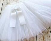 White TuTu, Baby TuTu with matching bow, Toddler Tu Tu, Ballerina Tu Tu, Baby Tu Tus, Tutus, Baby Tutus