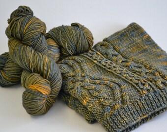 Hand dyed yarn pick your base - Sundown - sw merino cashmere nylon fingering dk worsted