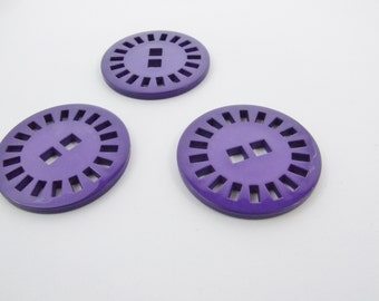 39mm Sun Dial Buttons - Purple [B0320]