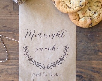 Wedding Candy Bags, Candy Buffet Bags, Favor Bags, Personalized Wedding Favor Bags,  Midnight Snack Treat Bag, customised, 25 count