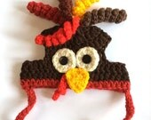 Crochet Pattern - PDF Download // Cat or Small Dog Christmas Turkey Beanie