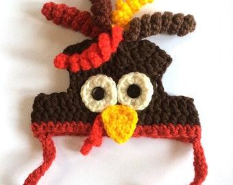 Crochet Pattern - PDF Download // Cat or Small Dog Christmas Turkey Beanie