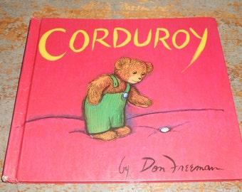 Rare Vintage Children's Book, Corduroy, Don Freeman, 1968 Copyright, Hardcover, USA, First Edition, Weekly Reader, Publication