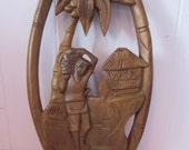 Vintage wood carving / wood sculpture