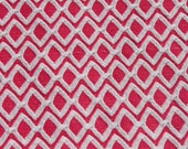 Vintage Double Knit Geometric How Pink Jersey Knit Fabric, Retro Mod Fabric, Stretchy Mod Retro Sewing Craft Quilting Fabric Almost 1 yard