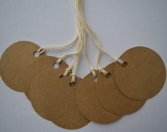 Circle tags, Kraft tags, Die cut tags, Blank tags Wedding favor tags, 1.5 inch