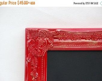 Ornate RED chalkboard frame CUSTOM SIZE  decor baroque