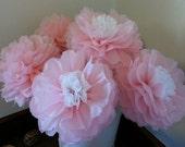 Tissue Paper Pom Flowers -Weddings//Anniversary//Nursery//Baby Shower
