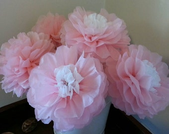Tissue Paper Pom Flowers -Weddings//Anniversary//Nursery//Baby Shower