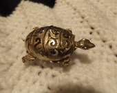 RESERVED~~     Vintage Turtle Pin and/or Clip