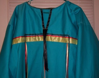 Ceremonial Ribbon Shirt, Pow Wow Regalia, Sundance Shirt