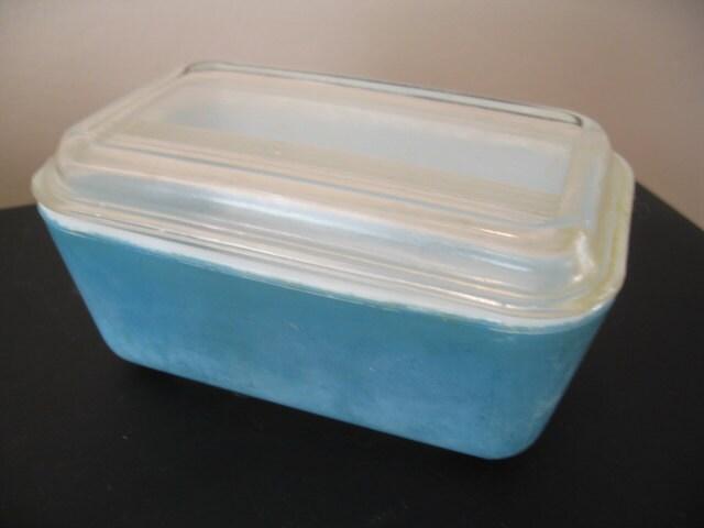 Casserole en verre pyrex turquoise vintage avec couvercle - Couvercle casserole en verre ...