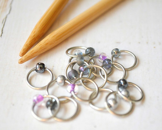Posh / Stitch Markers - Dangle Free Snag Free Knitting Stitch Markers - Small Medium Large Sizes Available