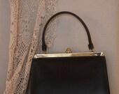 Vintage handbag,Grace Kelly style handbag