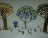 3 Tatted trees and 3 sets of 6 mini flowers