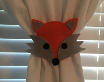 Fox Curtain Tie-Backs (Set of 2)