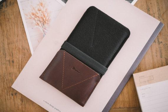 "iPhone 7 Sleeve, iPhone 7 Wallet, leather, wool felt, ""Kangaroo"""