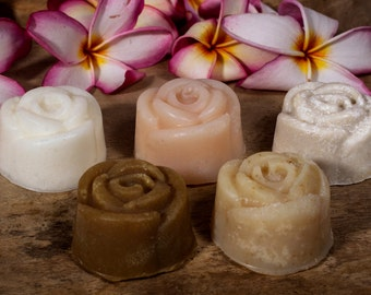 Flower Soaps, Mini Soaps, Sample Soap, Party Favour soap, 5 Guest Soaps, Travel Size, All Natural Soap, Homemade Mini Soaps