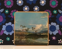Vintage Win El Ware Duck Table Mats Vernon Ward Birds Boxed Set of 6