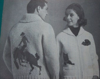 Mary Maxim Graph Style Knitting Pattern,Rodeo - FREE SHIPPING