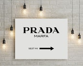 prada, prada marfa, prada marfa canvas, prada marfa print, canvas art, canvas, canvas print, canvas wall art, large art, large wall art,
