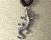 Lizard necklace, necklaces for women, leather jewelry, leather necklaces, high fashion, boho chic, bohemian necklace, uno de 50 style