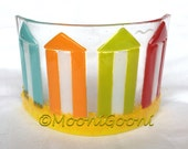 Fused Glass Arc: Beach Huts