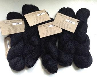 50% Off Manos del Uruguay Cotton Stria Worsted Black Yarn